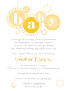 baby shower invitation- just like the baby part