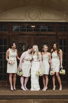 Whimsical Waxahachie Wedding- Fun bridesmaids pictures  Ruffledblog.com