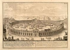 Erlach. 013-La Naumachie o combate naval de los romanos-Entwurf einer historischen Architektur 1721- © Universitätsbibliothek Heidelberg