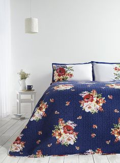 regal roses comforter & sham set | romantic, while and betsey