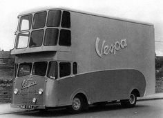 1955 Douglas-Vespa delivery truck I do not own this image, this image was found on We Are The Mods If you are the owner of this image please let me know and I will credit you. Moto Scooter, Vespa Ape, Piaggio Vespa, Vespa Lambretta, Vespa Scooters, Cool Trucks, Big Trucks, Cool Cars, Strange Cars