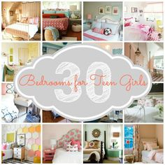 Find a bedroom that you AND your teen will love | 30 Bedrooms for Teen Girls featured at Remodelaholic.com #bedroom #inspiration #teen
