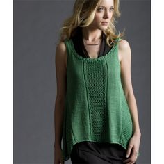 Spring Break Trapeze Tank free knitting pattern knit in Tahki Yarns Cotton Classic