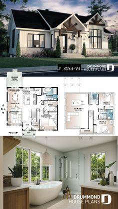 Sims House Plans, Ranch House Plans, Craftsman House Plans, Country House Plans, New House Plans, Dream House Plans, Small House Plans, House Floor Plans, Farmhouse House Plans