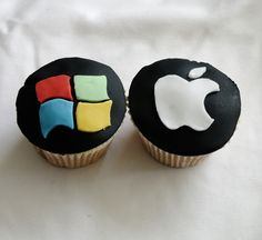 Cupcakes Take The Cake: Geek cupcakes: HTML and binary code, Windows and Apple, Super Mario Brothers and Pac Man