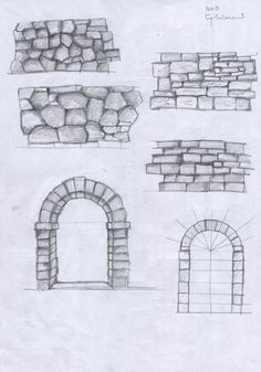 it forum topic.TOPIC_ID& Pencil Art Drawings, Art Drawings Sketches, Easy Drawings, Perspective Drawing Lessons, Perspective Art, Architecture Concept Drawings, Texture Drawing, House Drawing, Landscape Drawings