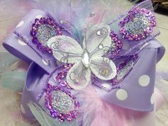 Glitzy Pastel Spring Boa Bowtique Bow by HodgePodgeBowtique, $15.00