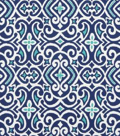 I'm in LOVE! Joann Fabrics. # 11716693  Home Decor Print Fabric-Robert Allen New Damask- Marine