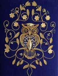 On this page, there are goldwork and metalwork projects that I have completed. Just as some gold to create something great! Owl Embroidery, Pearl Embroidery, Bead Embroidery Patterns, Embroidery Works, Embroidery Needles, Hand Embroidery Designs, Cross Stitch Embroidery, Machine Embroidery, Gold Work