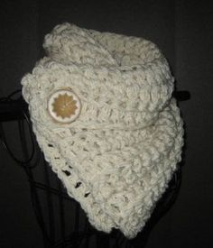 Crocheted Neck Warmer Cowl Scarf