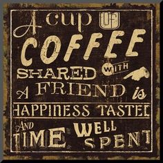 'Coffee Quote I' Textual Art