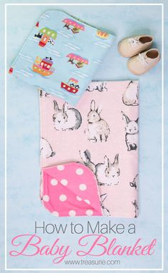 Now you can learn how to make a baby blanket from flannelette and other soft fabrics. Baby blankets are so easy and satisfying to make and make great gifts. Easy Baby Sewing Patterns, Baby Sewing Tutorials, Burp Cloth Patterns, Free Baby Blanket Patterns, Baby Sewing Projects, Sewing Ideas, Sewing Tips, Clothes Patterns, Knitting Patterns