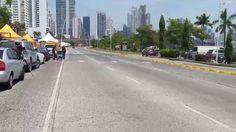 Una vista de la Cinta Costera, donde inician los Carnavales de la Ciudad de Panamá, Feb24, 2017