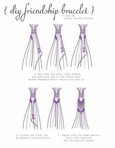 The best DIY projects & DIY ideas and tutorials: sewing, paper craft, DIY. Best DIY Ideas Jewelry: friendship bracelet from {nifty thrifty things} with a great step by step tutorial / Yarn Bracelets, Diy Bracelets Easy, Summer Bracelets, Bracelet Crafts, Diy Bracelets With String, How To Make Braclets, Embroidery Bracelets, Braided Bracelets, Handmade Bracelets