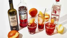 3 Campari Cocktails You Don't Need a Gazillion Ingredients to Make - Bon Appétit Campari Cocktails, Easy Cocktails, Cocktail Recipes, Champagne Margaritas, Champagne Cocktail, Cocktail Book, Cocktail List, Cocktail Making, Recipes