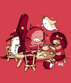 So Cute. <3  Tea Party by ~recycledwax on deviantART
