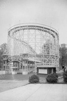 Glen Echo Roller Coaster Dips 1920s 4x6 Reprint Of Old Photo