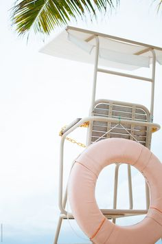 Lifeguard seat on the beach by Di Na - Beach, Vacation - Stocksy United Beach Aesthetic, Summer Aesthetic, Blue Aesthetic, Aesthetic Images, Photo Wall Collage, Picture Wall, Aesthetic Iphone Wallpaper, Aesthetic Wallpapers, Pink Photo