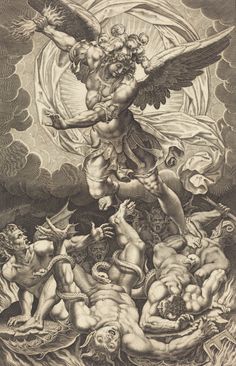 The Fall of the Rebellious Angels (1618 / Engraving) - Philippe Thomassin