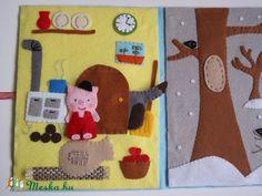 A kismalac és a farkasok- ujjbáb készlet és mini bábszínház (azonnal vihető!), Baba-mama-gyerek, Játék, Báb, Készségfejlesztő játék, Meska Busy Book, Book Girl, Felt Toys, Minion, Kindergarten, Kids Rugs, Quiet Books, Home Decor, Songs