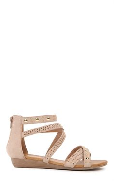 Flat Sandal with Straps and Studs