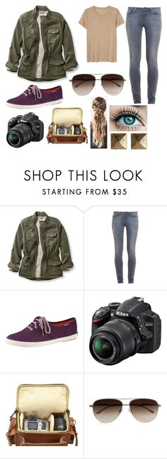 """""""Untitled #618"""" by nicolemoore1993 ❤ liked on Polyvore featuring L.L.Bean, Paige Denim, Keds, Nikon, Grafea, STELLA McCARTNEY, Blu Bijoux and plus size clothing"""