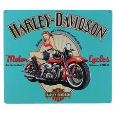 Harley-Davidson® Legendary Girl Tin Sign:Amazon:Home & Kitchen