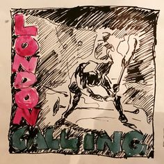 Ray Lowry original sketch for 'London Calling' album