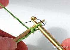 Crochet cast-on: Pass the yarn backwards between the hook and needle