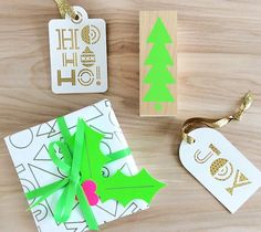 Ho Ho Ho and Oh Joy holiday gift tags set by Rob & Bob. Make It Now in Cricut Design Space