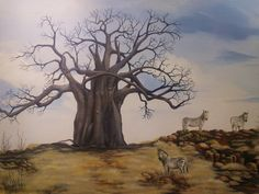 Check out this item in my Etsy shop https://www.etsy.com/listing/165491929/baobab-tree-with-zeebras-measures-30