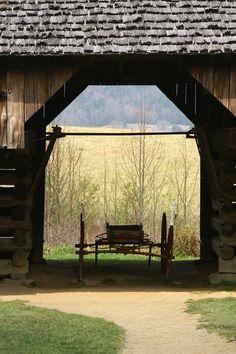 Tipton Homestead barn and wagon at Cades Cove Gatlinburg Hotels, Gatlinburg Vacation, Gatlinburg Cabin Rentals, Gatlinburg Tn, Tennessee Vacation, Blue Ridge Mountains, Great Smoky Mountains, Tennessee Smokies, East Tennessee