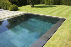 POOLSIDE particulars of zeroedge swimming pools Inground Pool Designs, Backyard Pool Designs, Swimming Pool Designs, Backyard Ideas, Small Backyard Pools, Small Pools, Swimming Pools Backyard, Outdoor Pool, Luxury Swimming Pools