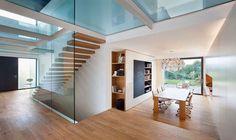Viviendas pareadas con suelo de cristal