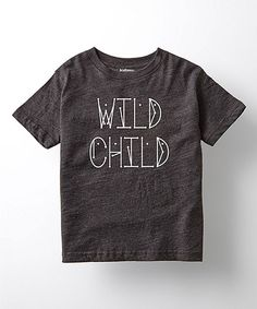 Love this It's Just Me Heather Charcoal 'Wild Child' Tee - Toddler & Kids by It's Just Me on #zulily! #zulilyfinds