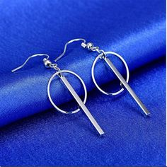 Sterling Silver Circle Earrings Circle Earrings, Minimalist Jewelry, Types Of Metal, Product Launch, Sterling Silver, Bracelets, Bracelet, Bangles, Bangle