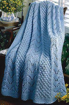 We Like Knitting: Fan Knit Afghan - Free Pattern