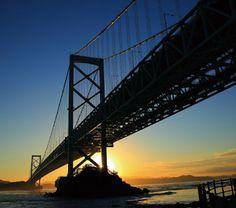 Tokushima, Silhouettes, Travelling, Naruto, Bridge, Japan, Island, City, Bro