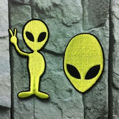 AlienPunk patch Embroidery patches funny Eye by craftapplique