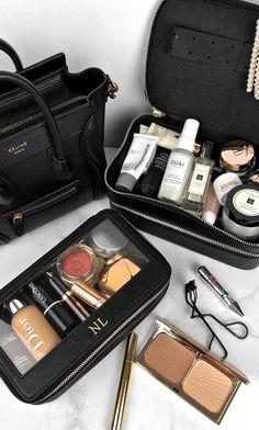 Makeup Train Case, Makeup Case, Makeup Kit, Makeup Brushes, Eye Makeup, Makeup Stuff, Beauty Skin, Beauty Makeup, Rangement Makeup