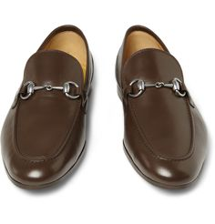 7c9875e07a3 Gucci Horsebit Leather Loafters Brown Gucci Loafers