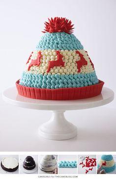 Шапко-торт (идея для вязальщиц)