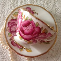 Queen Anne China Tea Cup & Saucer Roses