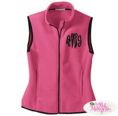 Ladies Monogrammed R Tek Fleece Vest in 8 Great Colors  Apparel & Accessories > Clothing > Outerwear > Vests
