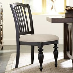 Riverside Mix N Match Wood Dining Side Chairs - Distressed Black - Set of 2 - RVS1636