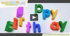 Happy Birthday! Buntes Geburtstagsvideo mit einem Geburtstagslied und öustigen Geburtstagsspruch.