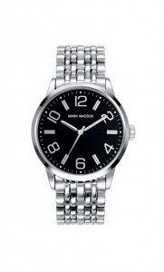 Colección Classic - HM3001-55. Reloj tres agujas brazalete IP Silver con esfera negra e índices y agujas en silver. Cierre desplegable. Cristal mineral. Impermeable 30m (3ATM). Precio: 49,00 €