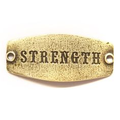 Strength Antique Brass Small Sentiment Charm at The Paper Store