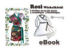 Rosi♡ ebook Wickelkleid 6 Größen 4 Rock- Armlängen von first lounge berlin     Einzigartige Ebooks Nähanleitungen mit Schnittmuster ♥ Auch für Nähanfänger  auf DaWanda.com