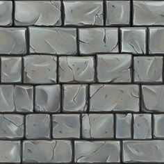hand painted brick ref Texture Mapping, 3d Texture, Tiles Texture, Game Textures, Textures Patterns, Terrain Texture, Zbrush, Digital Texture, Hand Painted Textures
